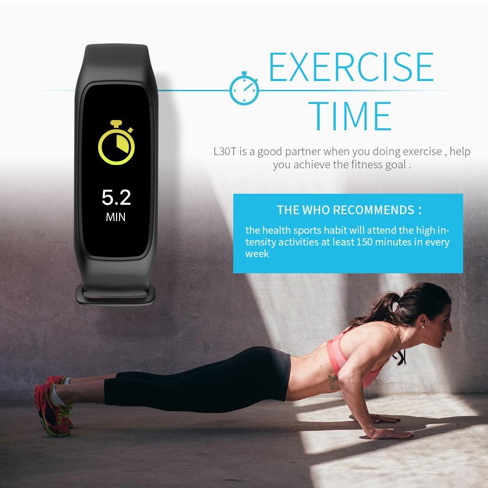 Lemfo l30t kolorowy ekran inteligentny zespół pulsometr krokomierz uśpienia fitness tracker dla andriod ios telefon 8