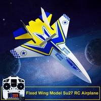 Fixed Wing Modell Su27 RC Flugzeug Mit Microzone MC6C Sender mit Empfänger und Struktur Teile Für DIY RC Flugzeug