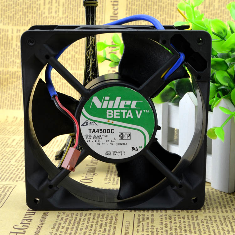 Original NIDEC 12cm 24V 12038 0.28A B31257-68 120 * 120 * 38MM 3-wire double-ball chassis fan