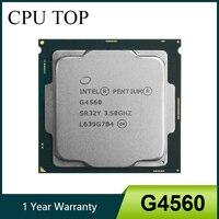 Intel Pentium G4560 Prozessor 3MB Cache 3,50 GHz LGA1151 Dual Core Desktop PC CPU