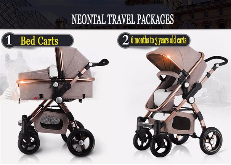 GoldenBaby wózka dziecięcego 2 w 1 3 w 1 szok składany składany newborn baby wózek Rosja darmowa wysyłka 3