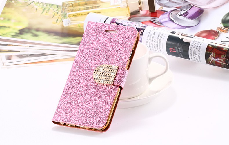 Dla iphone 6 6s plus 7 plus cover glitter bling kryształ diament skórzany portfel case do samsung galaxy s6 edge plus s7 edge torby 21