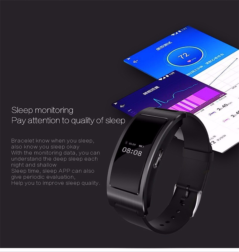 Bluetooth smart watch bransoletka zespołu blood pressure monitor tętna ck11 smartwatch krokomierz fitness dla ios android 9