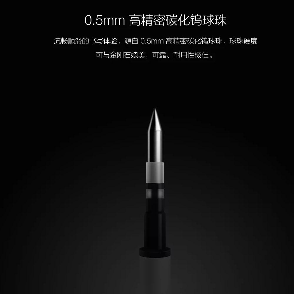Oryginalny Xiaomi Podpisanie Pen PREMEC Mijia Znak Pióra 9.5mm Smooth Szwajcaria MiKuni Japonia Ink Refill dodać Mijia Długopis Czarny napełniania 7