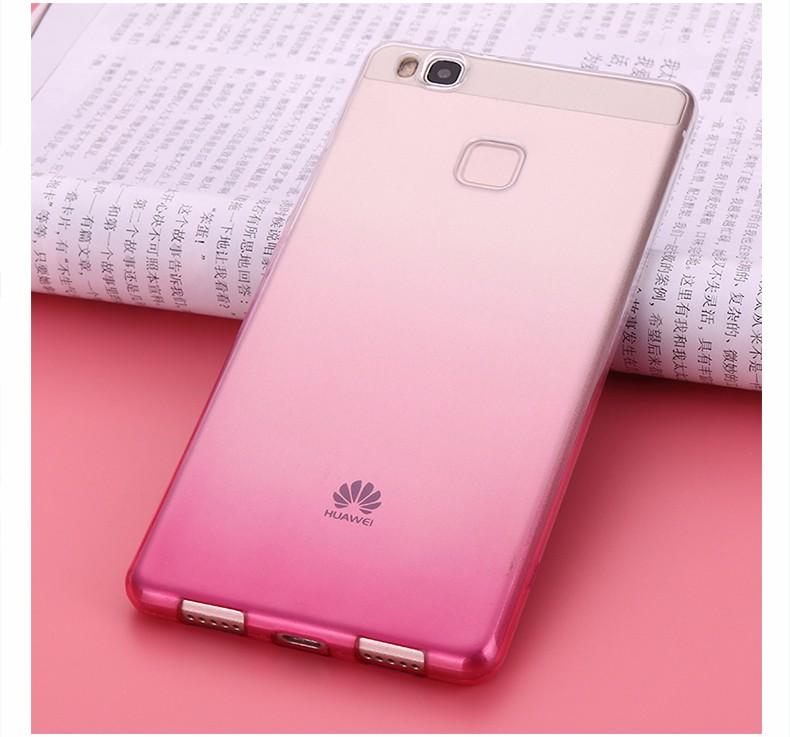 Ultra-cienki przezroczysty miękka tpu case dla huawei p8 p9 plus p8 lite krzemu gradientu telefon ochronna pokrywa dla huawei p9 Shell 17