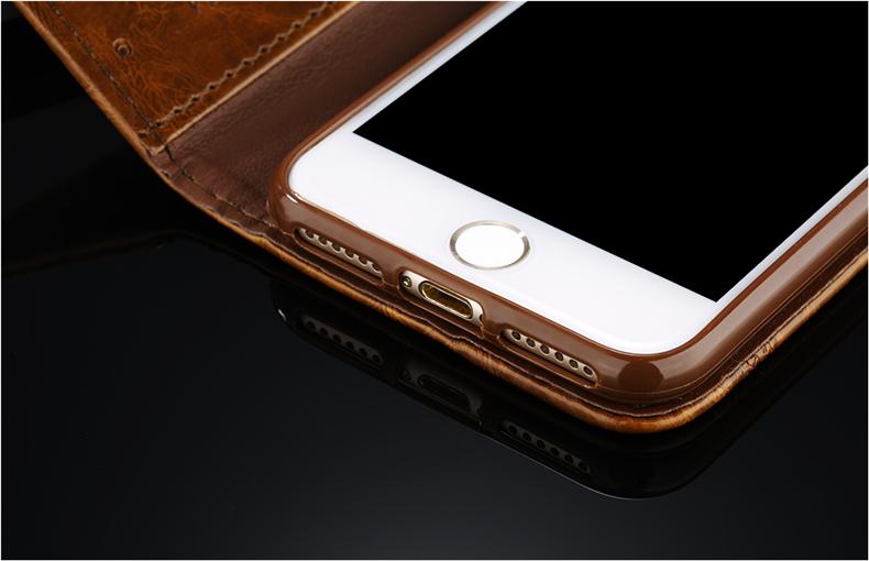 Skórzane etui z klapką telefon case for iphone 7 plus 6 s plus 5S 4S samsung galaxy S3 S4 S5 S6 S7 S8 Krawędzi Plus Uwaga 3 4 5 Karty Telefon torby 9