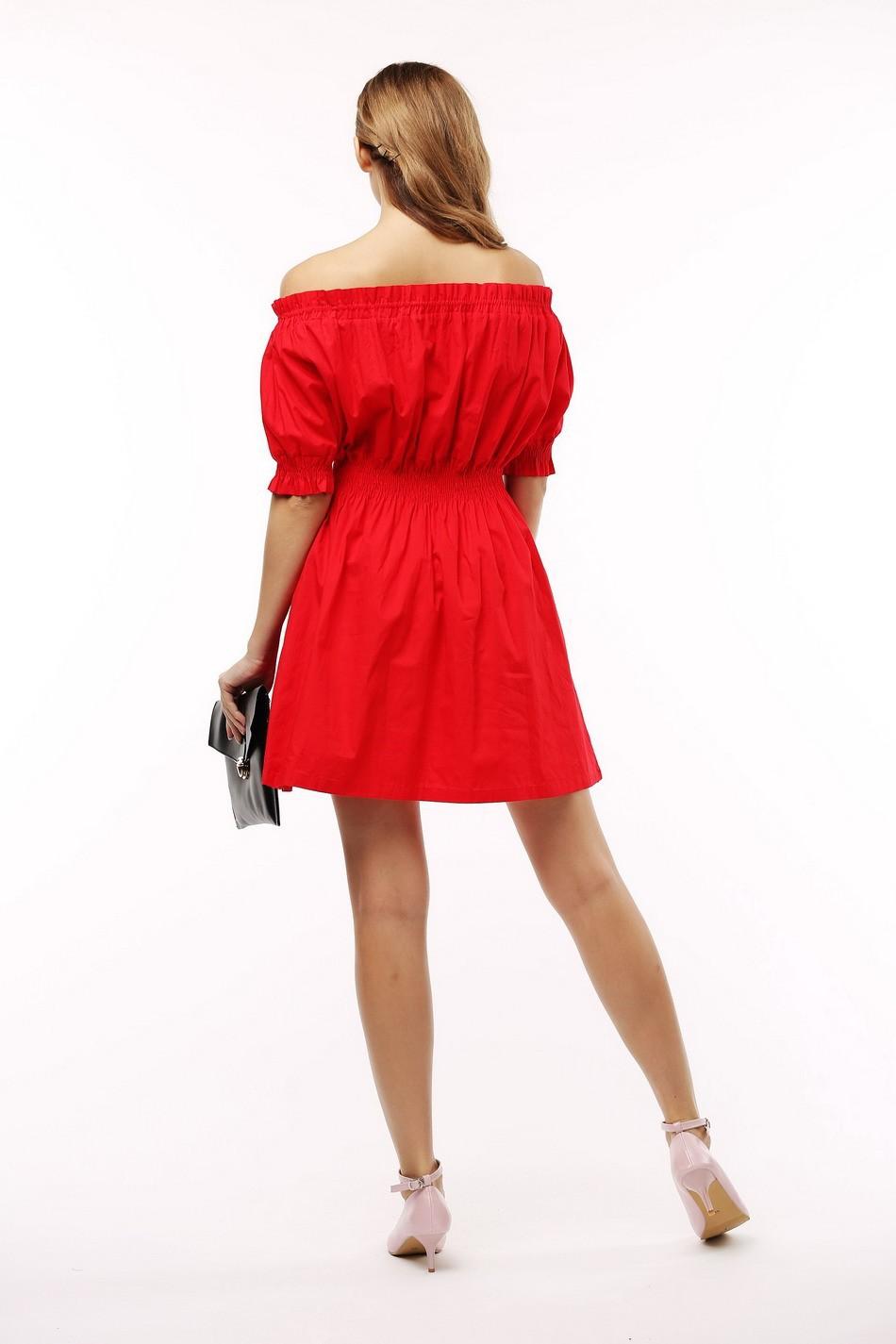 100% bawełna nowy 2017 jesień lato kobiety dress krótki rękaw casual sukienki plus size vestidos wc0380 8