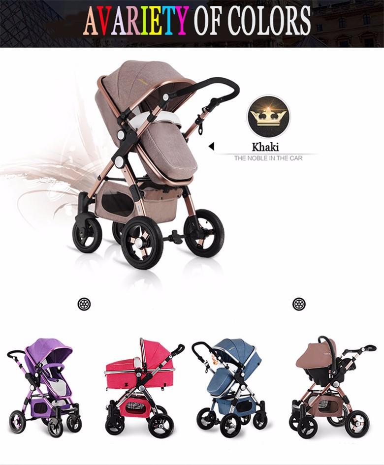 GoldenBaby wózka dziecięcego 2 w 1 3 w 1 szok składany składany newborn baby wózek Rosja darmowa wysyłka 6