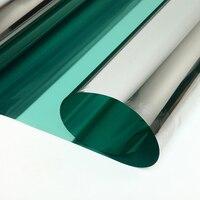 Sunice-0.5x5m 실버 & 그린 윈도우 필름, 절연 솔라 틴트 스티커, UV 반사 편도 미러 프라이버시 장식