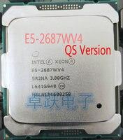 E5-2687WV4 Original Intel Xeon QS Version E5 2687WV4 3,00 GHz 12-Core 30MB SmartCache E5 2687W V4 LGA2011-3 160W freies verschiffen