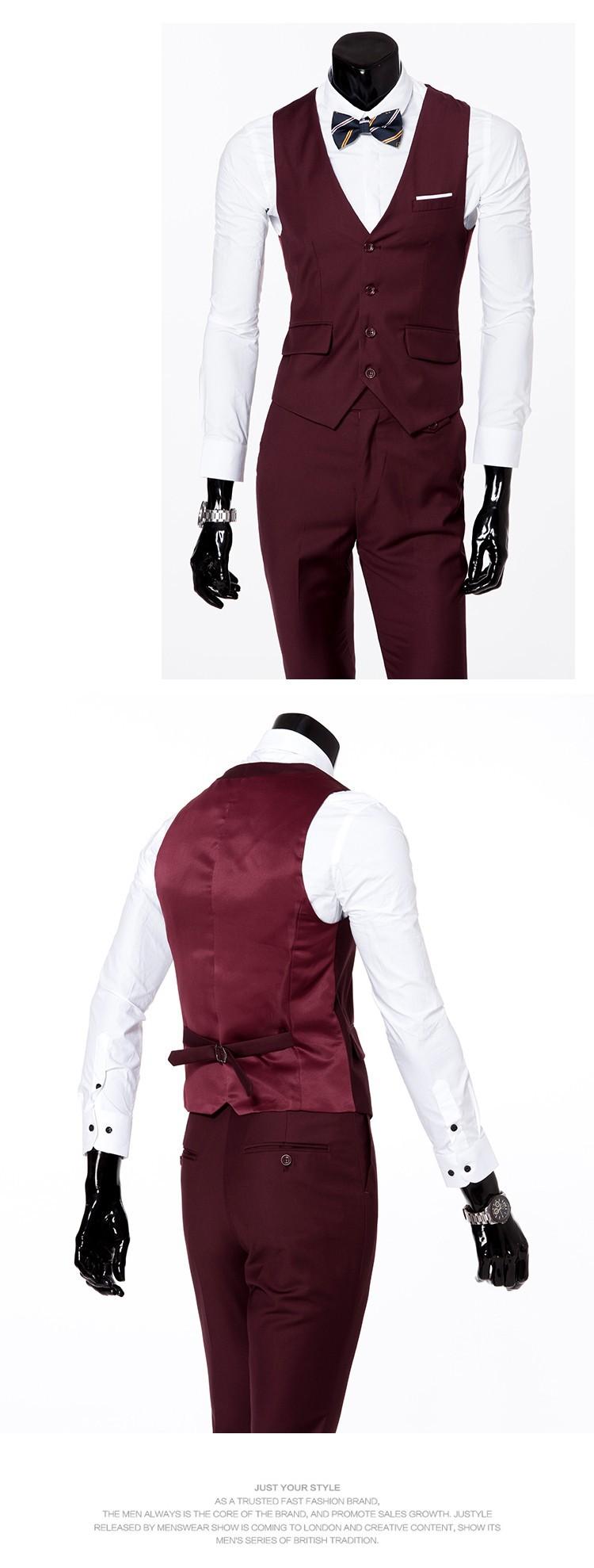 (Kurtka + kamizelka + spodnie) 2017 Nowa wiosna marka koszulka Męska slim fit Firm a trzyczęściowe Garnitury/Męskie dobrej groom dress/mężczyźni Blazers 16