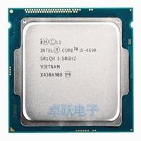Intel Core i5-4690 i5 4690 Prozessor Quad-Core LGA1150 Desktop CPU 100% arbeits richtig Desktop Prozessor Kostenloser versand