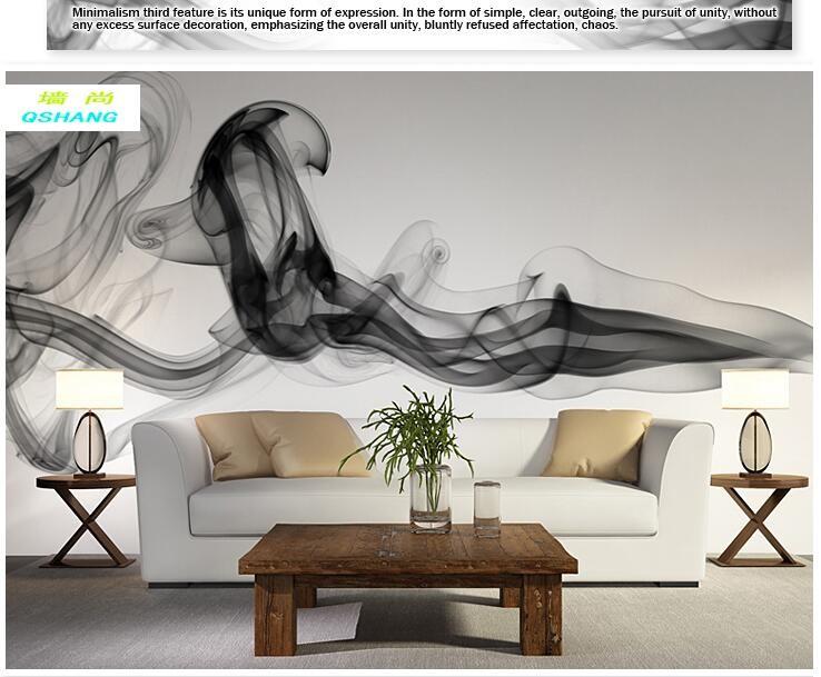 Niestandardowe 3D fototapety Dymu chmury streszczenie artystyczny fototapeta tapeta nowoczesna minimalistyczna sypialnia sofa TV obraz papier 14