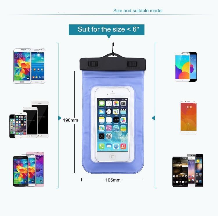 Esamday wodoodporna podwodne telefon case torba pokrowiec na iphone 6 7 6 s 7 plus 5 5c 5S se dla galaxy grand prime s6 s5 huawei xiaomi 4