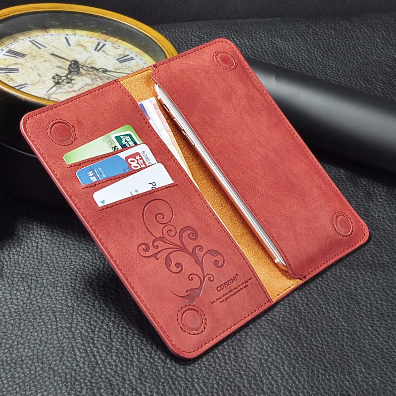 5.5 Uniwersalny Vintage Odwróć Skórzany Portfel Etui Do IPhone 5 6 7 Plus dla HTC Huawei LG Sony Dla Samsung S4 S6 Krawędzi Uwaga 7 Case 10