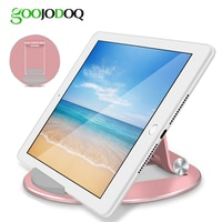 GOOJODOQ Tablet Stand עבור iPad מחזיק אלומיניום Tablet הר מחזיק עבור iPad 2018 2 3 4 פרו 11 2020 10.5 אוויר 2 אוויר 1 מיני 5 2019