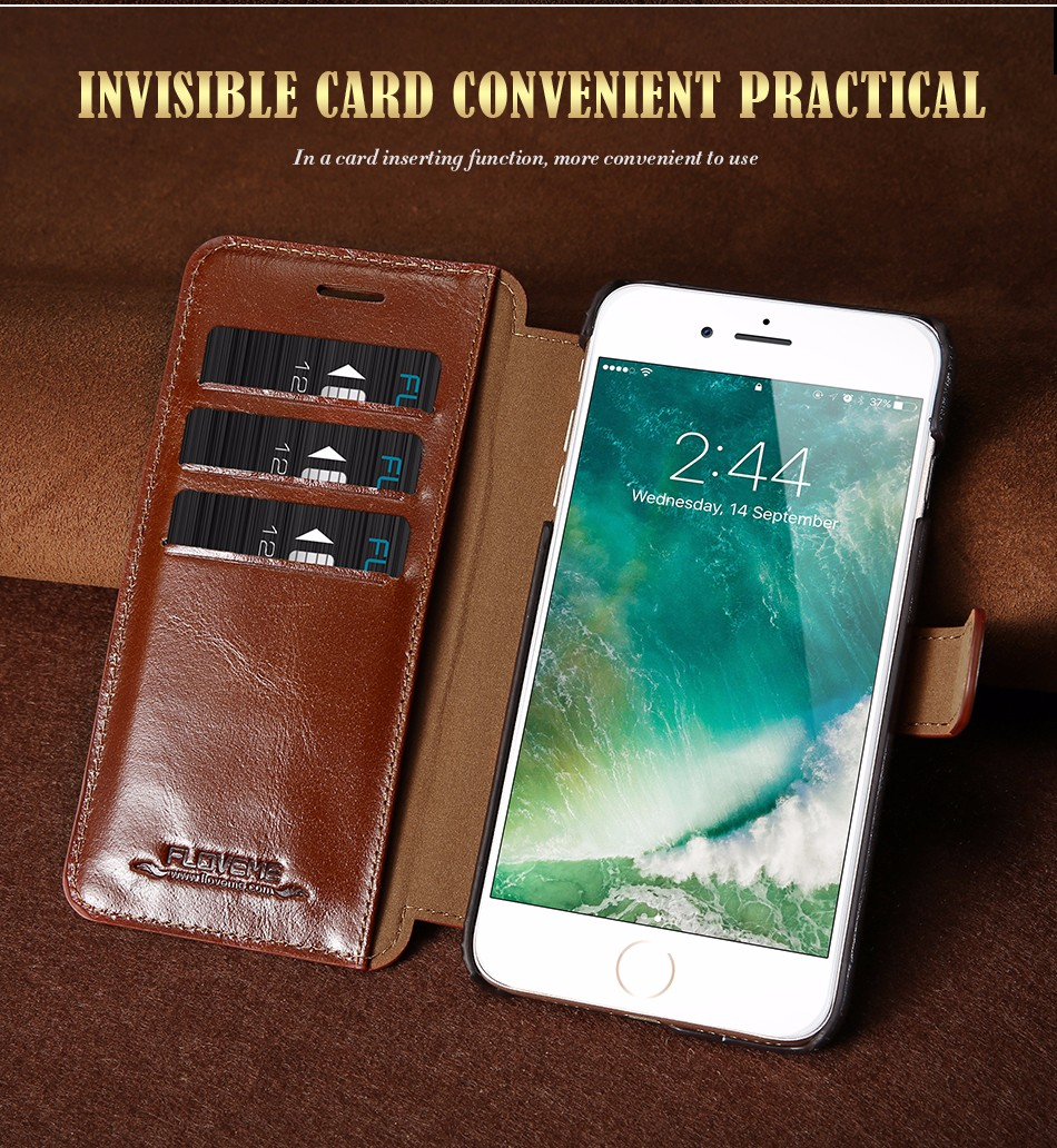 Floveme vintage klapki skóra case dla iphone 7 6 6 s pokrywa z karty uchwyt luksusowe wallet case for iphone 7 7 plus 6 6 s plus capa 3