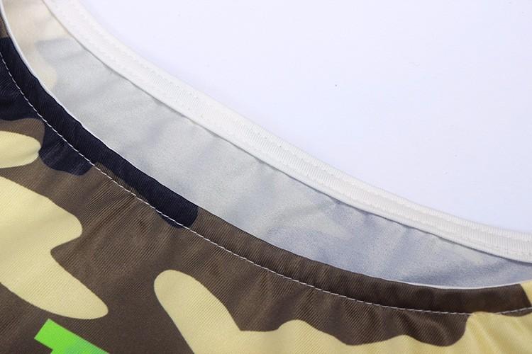 2017 kobiety moda lato bez rękawów bodycon wojskowy kamuflaż cartoon mouse list drukuj sexy mini dress vestido curto cortos 8