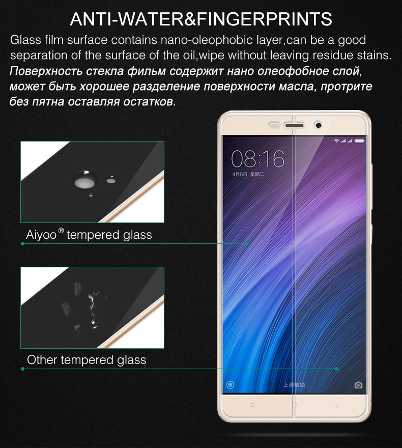 Szkło hartowane screen protector dla xiaomi redmi 4 aiyoo pro uwaga 3 4 4x mi4 redmi 3 s 4a mi6 mi5s plus mi5 mi4i mi4c szkło film 6