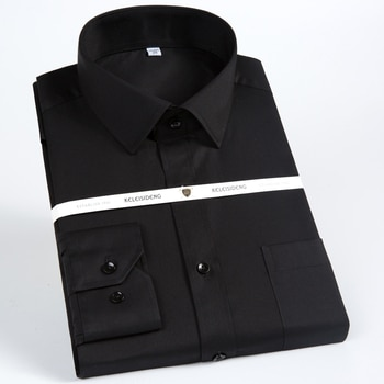 2706e02def3071 Męskie Standard-fit z długim rękawem solidna sukienka koszula—Darmowa  dostawa