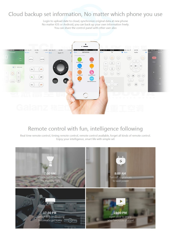 Broadlink RM3 RM Pro/RM mini3 Automatyki Inteligentnego Domu Uniwersalny Inteligentny Pilot WIFI + IR + RF Przełącznik dla iOS Android 19