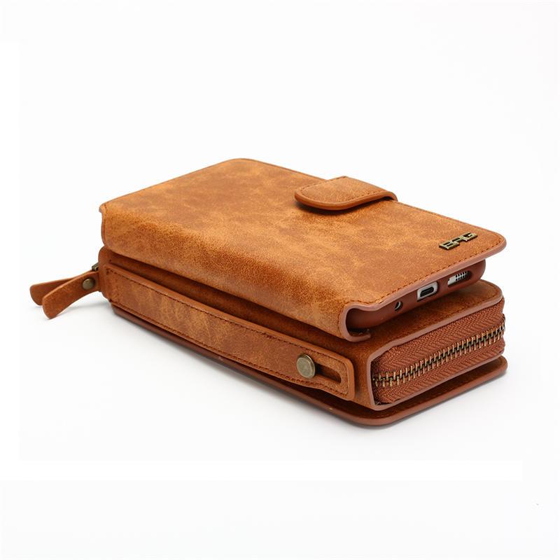 Wielofunkcyjny portfel skórzany case do samsung s4 s5 s6 s7 edge S8 NOTE4 NOTE5 Zipper Torebka Pouch Sprawach Telefonów Lady Torebka Okładka 4