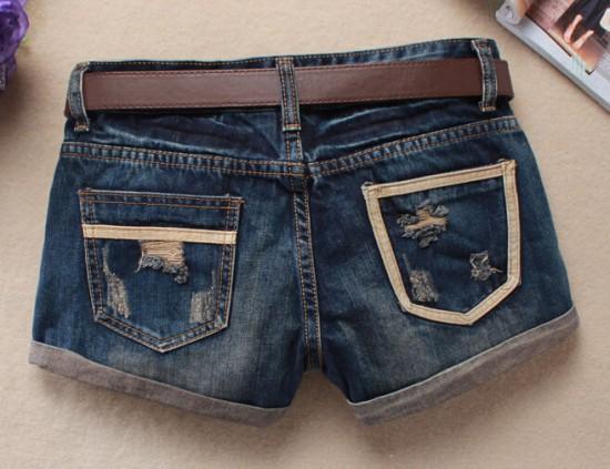 Vintage Club Denim Ripped Shorts 10