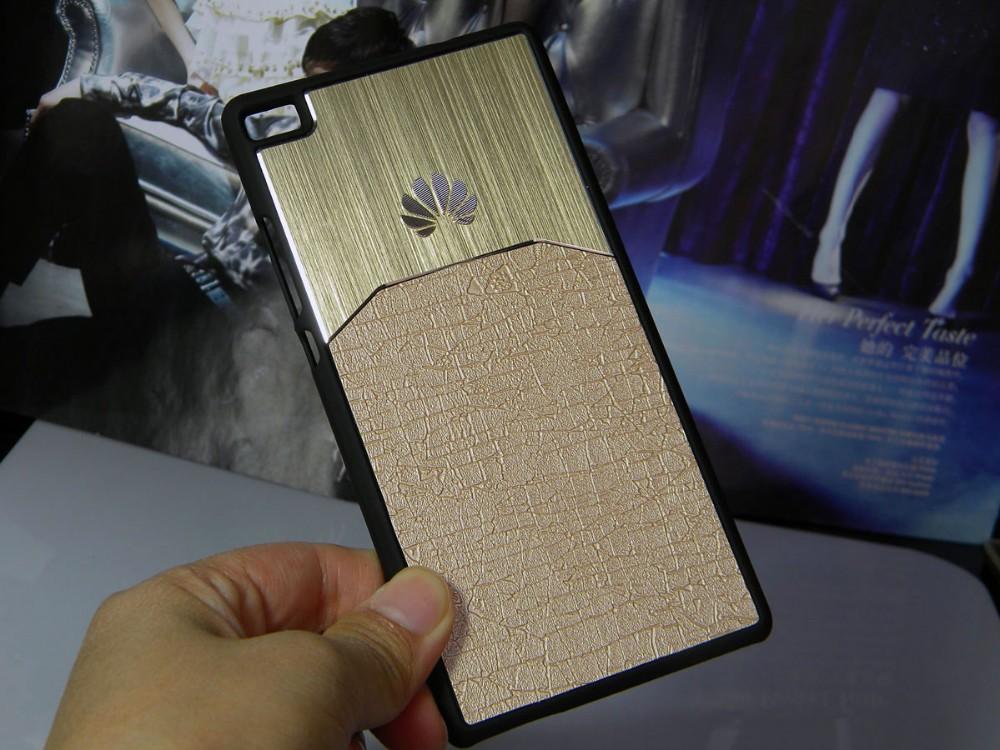 Dla huawei p8 lite case p9 lite plus honor 8 p9 pokrywy hybird Szczotkowanego aluminium Metal z Luksusowych Skóry materiał darmowa wysyłka 10