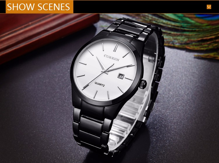 Curren 2016 Najlepsze Marki Biznesmenów Mężczyzna Luksusowy Zegarek Na Co Dzień Pełne stali Kalendarz zegarki Na Rękę zegarki kwarcowe relógio masculino 10