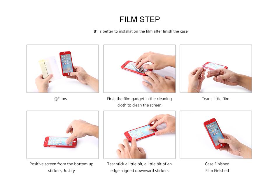 Floveme 360 pełna ochronne twarde etui na telefony iphone 6 6s plus 7 7 plus coque luksusowe odporny na wstrząsy case + ekran szkła Protector 17