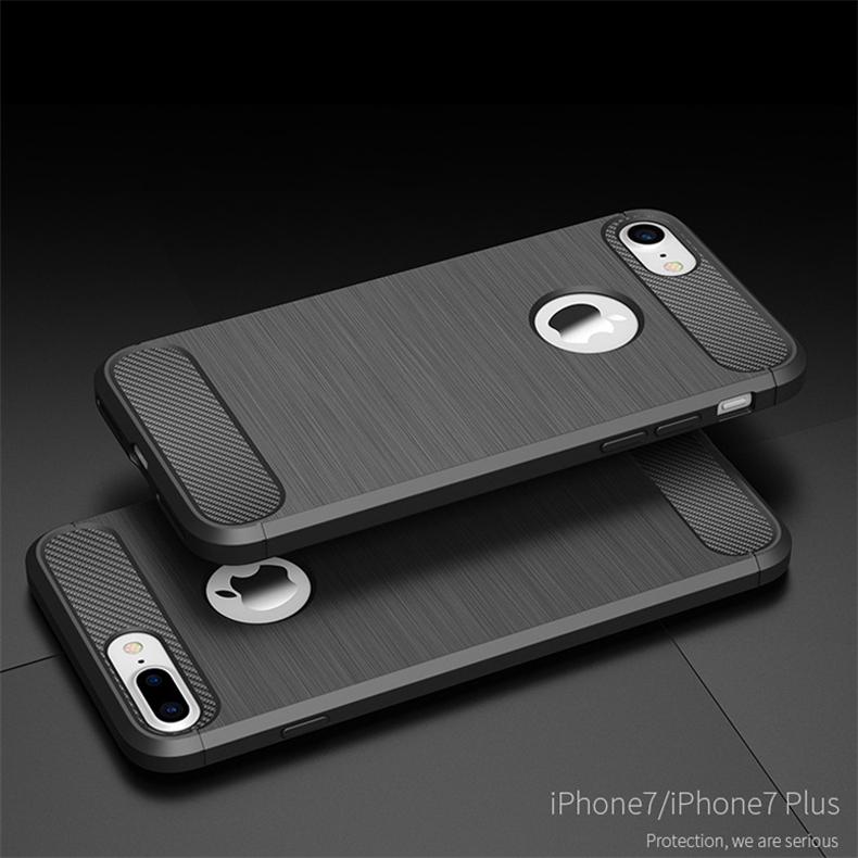 Luksusowe wstrząsoodporny telefon case for iphone 7 7 plus 6 6 s plus 5 5S se case new carbon fiber miękka tpu rysunek phone case back cover 2