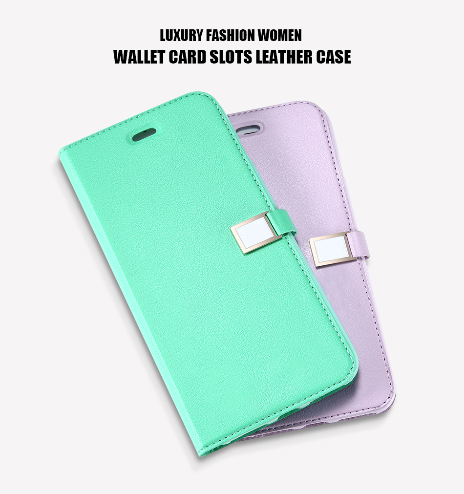 Kisscase candy kolor skóry case dla iphone 7 7 plus odwróć karty portfel slot case pokrywa dla iphone 6 6s plus 5S 5c 4S z logo 3