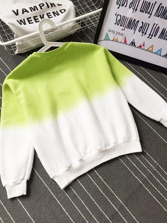 2016 Nowa Wiosna Jesień Harajuku Bluzy Polarowe Grube Kolor Gradientu Luźne Dorywczo Bluza Kobiety Bluzy Dres Moletom 3