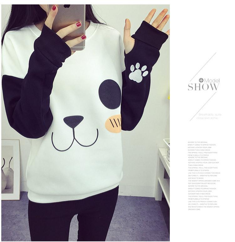 New College Wiatr Kobiety Bluzy Moda Cartoon Panda Bluzy Dorywczo Drukowane Mieszane Kolor Harajuku Dresy Kobiet Sudaderas 6