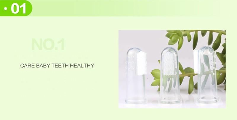 Newbron Pozycji Dziecka Dzieci Opieka Stomatologiczna Gum Zęby Wyczyść Masażu Miękkie Silikonowe Dla Niemowląt Palec Szczoteczka Szczotka 4