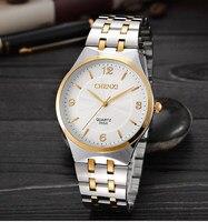 Moda Chenxi 055a marka Hot złoty kobiety zegar kwarcowy kobieta stal z różowego złota zegarek panie Casual kryształ prezent zegarki