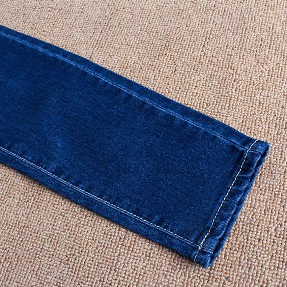 100% Brand New Fashion i Stylowe Kobiety W Ciąży Elastyczna Elastyczna Bawełna Jeans Denim Ołówek Spodnie Ciążowe Spodnie 6