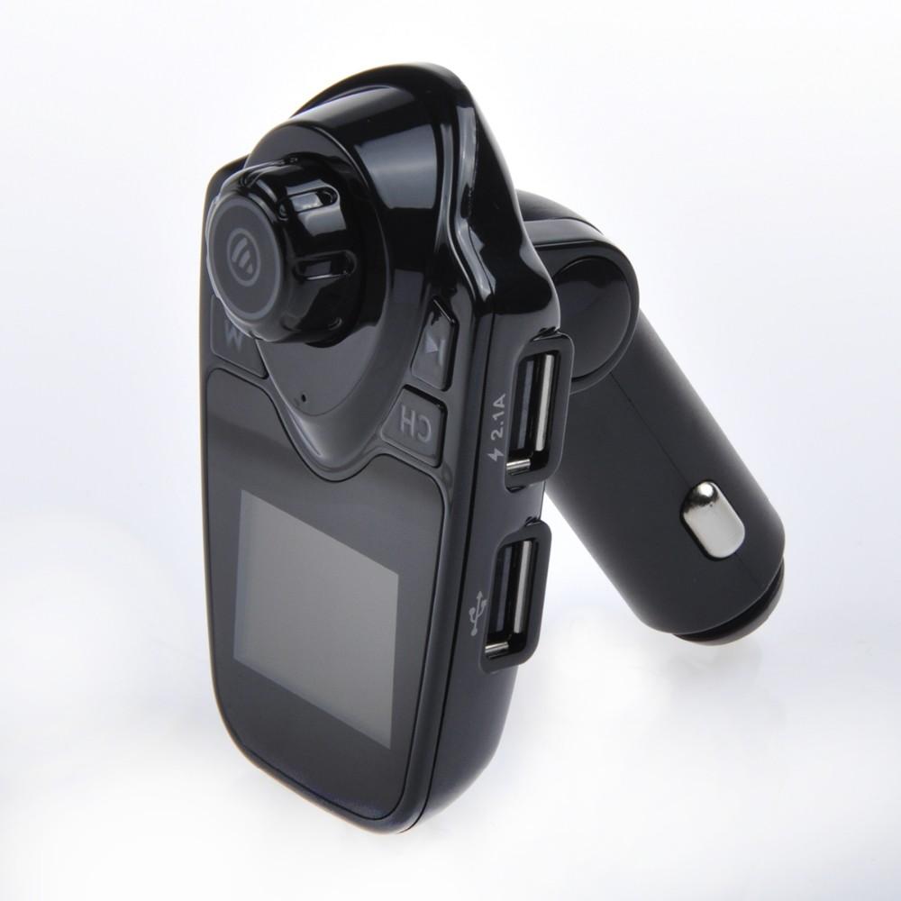 Samochodowy Odtwarzacz Mp3 Bezprzewodowy Nadajnik FM Modulator Fm Bluetooth Zestaw Głośnomówiący Zestaw samochodowy A2DP 5 V 2.1A Ładowarka USB dla iPhone Samsung T11 5