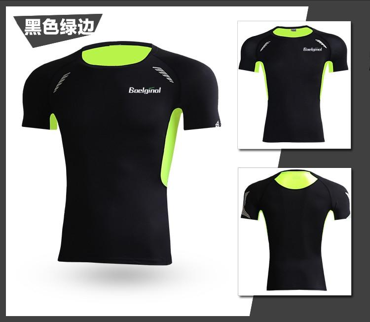 3 Sztuk Ubrania Męskie Kombinezony Sportowe Do Biegania Dla Mężczyzn Krótki kompresja Rajstopy Gym Fitness T Shirt Przycięte Spodnie Szybkie Pranie zestawy 2