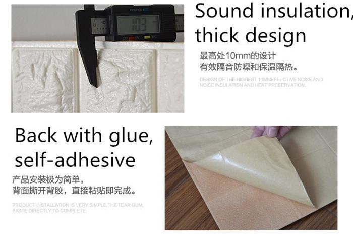 PCV 3D salon mur ceglany wzór tapety stickie dormitorium sypialnia retro wzór tapety adhesive392-F cegły 19