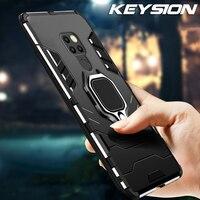 Keysion Telefoon Case Voor Huawei Mate 20 Pro P30 Lite P20 Hybride Harde Pc Tpu Siliconen Shockproof Cover Voor Y6 y7 Y9 P Smart 2019