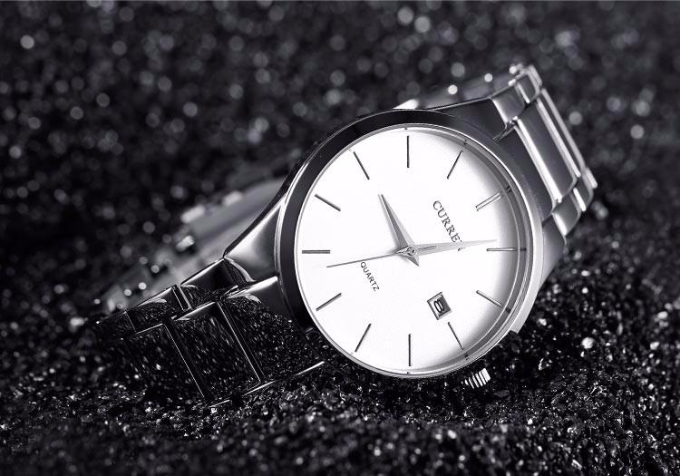 Curren 2016 Najlepsze Marki Biznesmenów Mężczyzna Luksusowy Zegarek Na Co Dzień Pełne stali Kalendarz zegarki Na Rękę zegarki kwarcowe relógio masculino 15