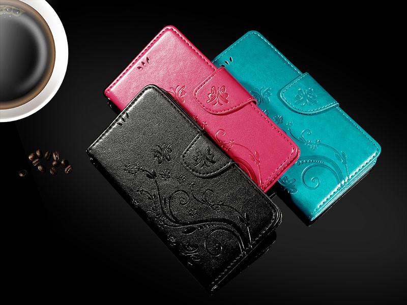 Dla microsoft nokia lumia 640 lumia 630 lumia 550 worek nadrukowane butterfly pu wizytownik skórzany telefon okładka case shell 9