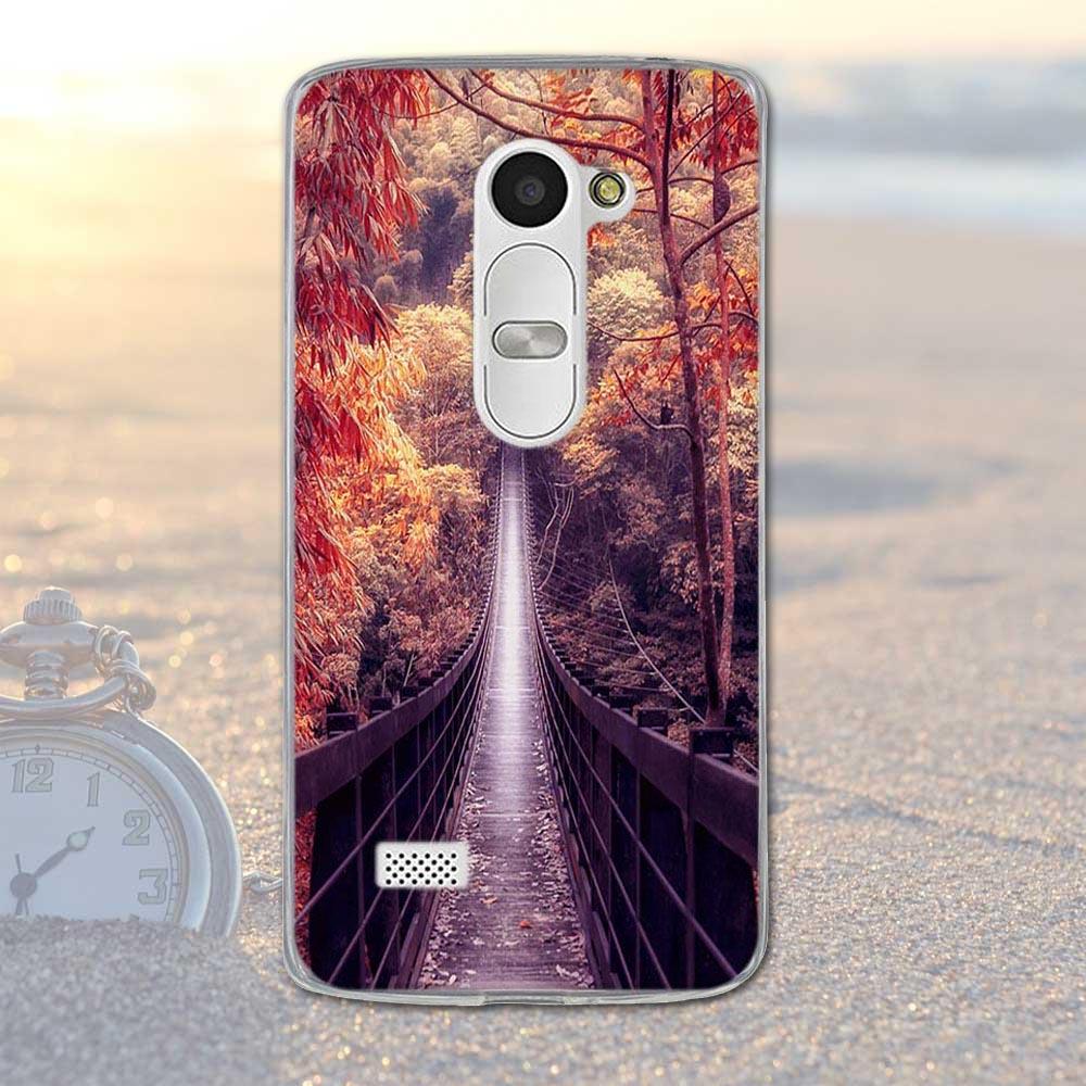 Fundas telefon case pokrywa dla lg leon 4g lte h340n c50 c40 miękka tpu krzemu kwiaty zwierzęta dekoracje mobile phone bag pokrywa dla lg 13
