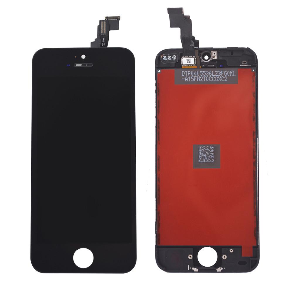 Sprzedaż fabryki lcd dla iphone 5 iphone 5c iphone 5s ekran Wyświetlacza Część Szklany Panel Dotykowy Digitizer Zgromadzenie Kompletna Narzędzia ekran 2