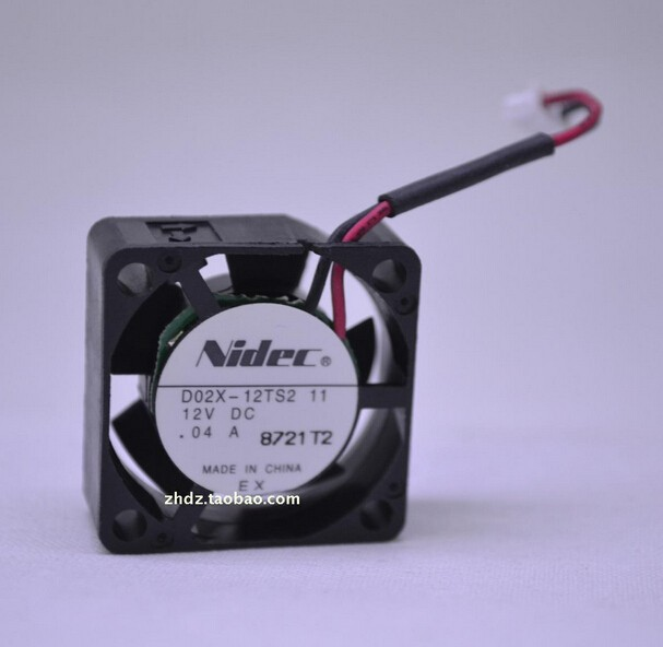 Wholesale: genuine NIDEC 2510 12V 04 0.04A 2.5CM D02X-12TS2 2 line fan