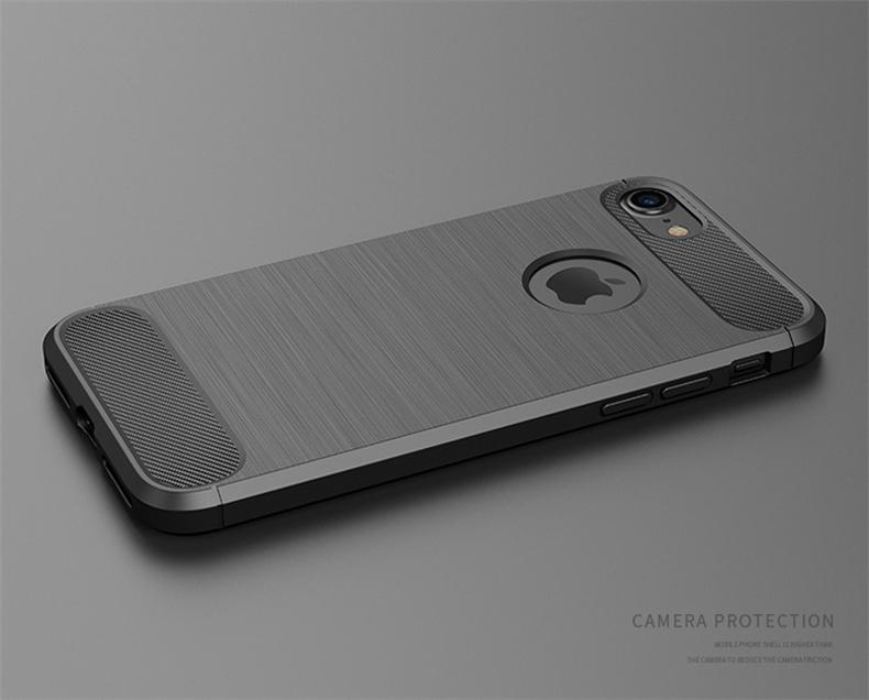 Luksusowe wstrząsoodporny telefon case for iphone 7 7 plus 6 6 s plus 5 5S se case new carbon fiber miękka tpu rysunek phone case back cover 4