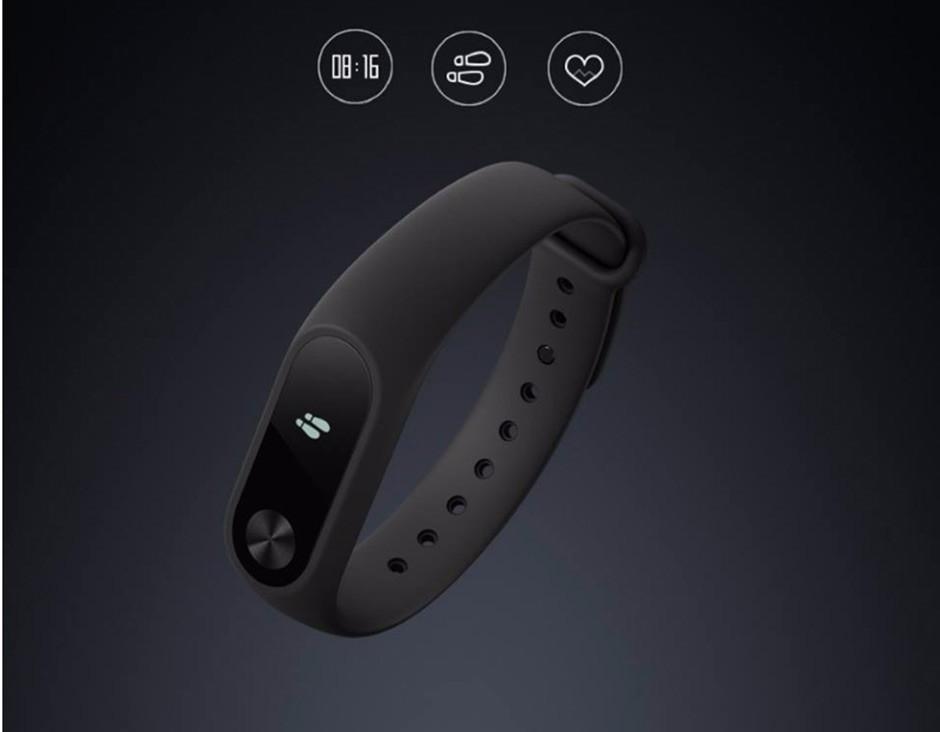 Oryginalny xiaomi mi kompania 2 inteligentnego bransoletki wristband mi kompania 2 fitness tracker bransoletka smartband pulsometr 16