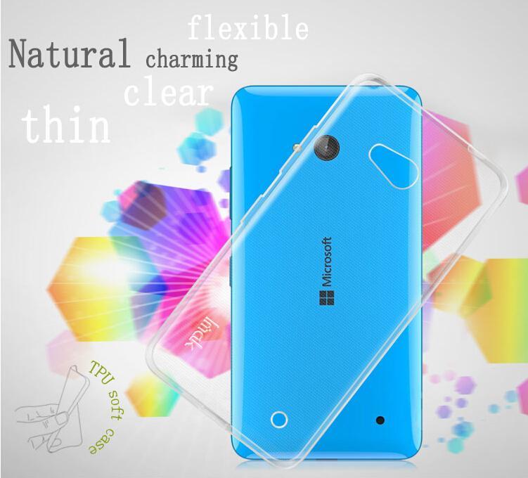 Dla microsoft lumia 535 532 435 640 640xl case cover, 0.6mm tpu case super slim miękkie back case etui na telefony 8