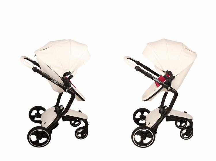 Foofoo wózka dziecięcego Wysokiej krajobrazu może zmienić na spania koszyk skóry 12
